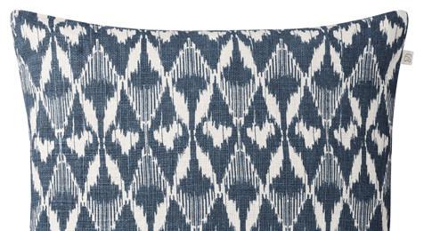 Gangtok Ikat Blue Linen Cushion