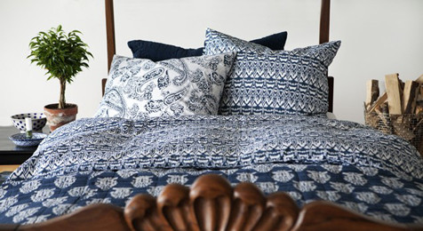 Ikat Urban Blue Duvet Set