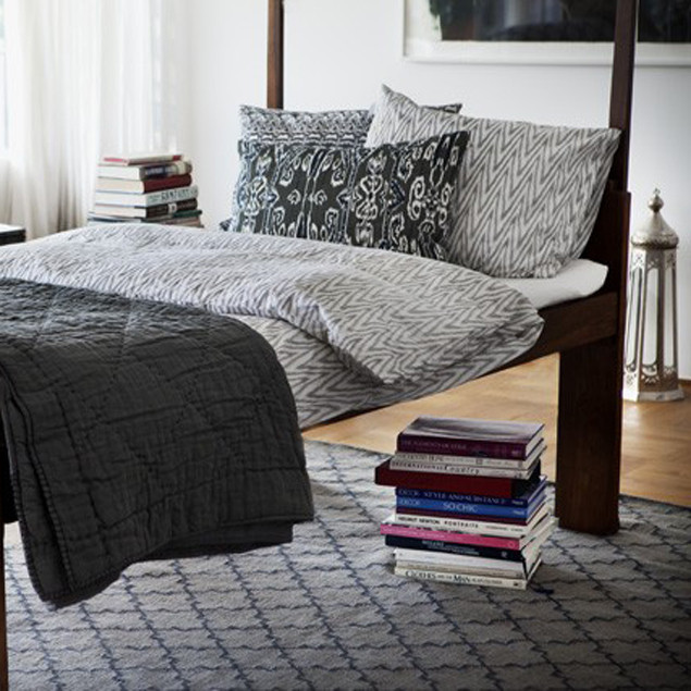 Ikat Zigzag Grey Duvet Set