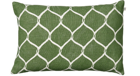 Jaal Cactus Green Linen Cushion