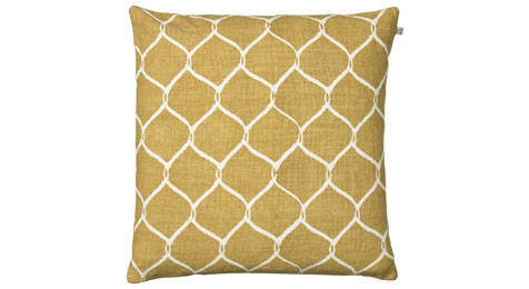 Jaal Spicy Yellow Linen Cushion