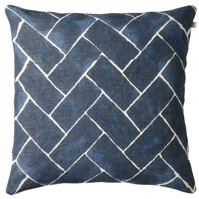 Jay Blue Linen Cushion: Jay Blue Linen Cushion Chhatwal & Jonsson