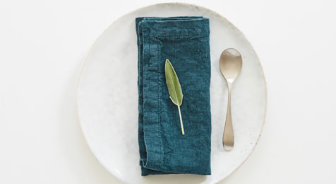 Linen Napkins Deep Water