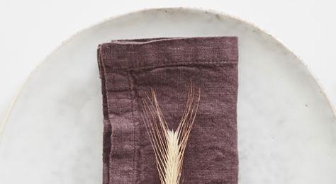 Linen Napkins Mauve