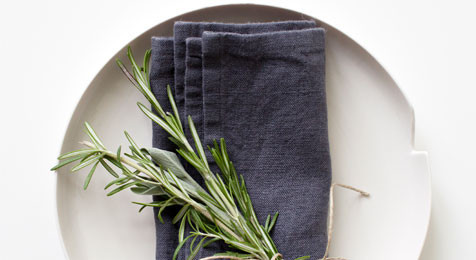 Linen Napkins Dark Grey