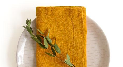 Linen Napkins Mustard