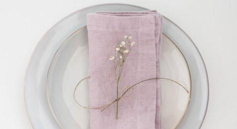 Linen Napkins Pink