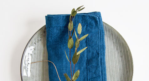 Linen Napkins Stone Wash Blue