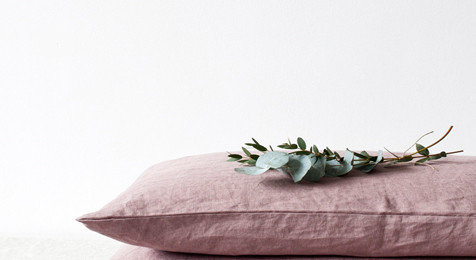 Linen Pillowcase Ashes of  Rose Pink