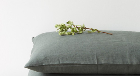 Forest Green Linen Pillowcase