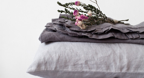 Linen Pillowcase Light Grey