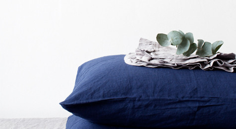 Linen Pillowcase Navy