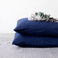 Pure Linen Pillowcase Navy