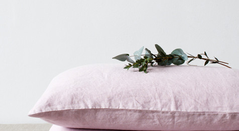 Linen Pillowcase Pink Lavender