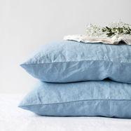 Sky Blue Linen Pillowcase Nomads
