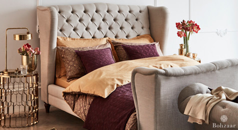 Zantine Gold & Plum duvet cover