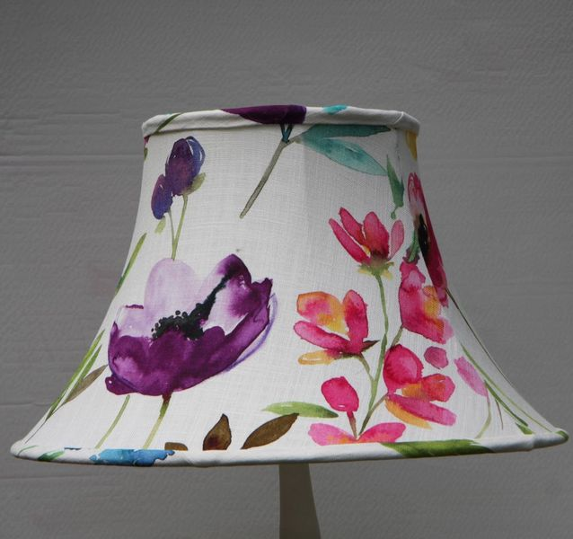 Floral lampshade bluebellgray fabric maginfier