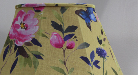 Floral Lampshade Bluebellgray Fabric