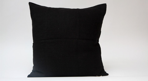 Linen Cushion Black
