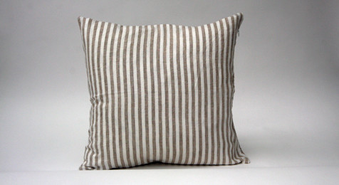 Linen Cushion Natural Stripe