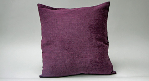 Linen Cushion Deep Purple