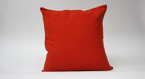 Linen Cushion Orange