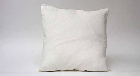 Linen Cushion White