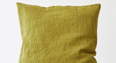 Linen Cushion Moss Green