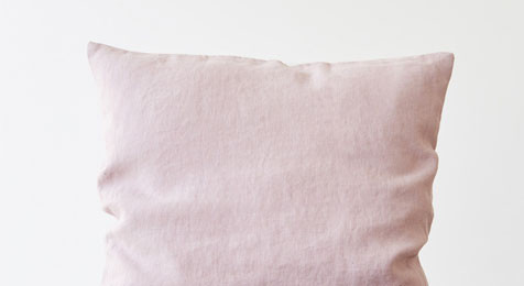 Pink lavender Linen cushion