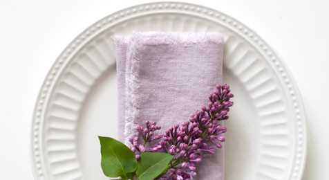 Pink Lavender Linen Napkins with Fringes