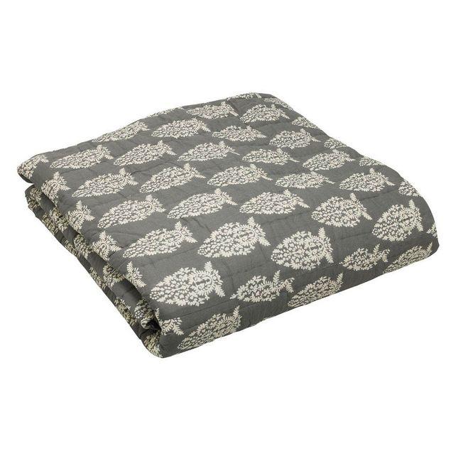 Impression Grey Quilt - reverse pattern