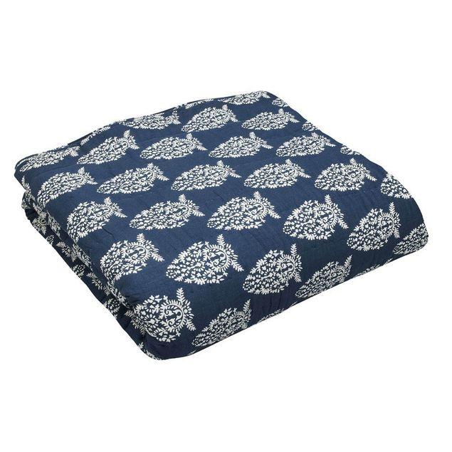 Impression Navy quilt - reverse pattern
