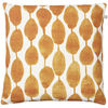 Rain Cushion Orange on white base : Rain Cushion Orange white base 50x50