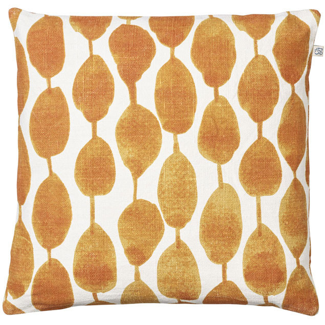 Rain Cushion Orange on white base: Rain Cushion Orange white base 50x50