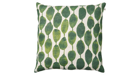 Rain Pattern Green Linen Cushion,