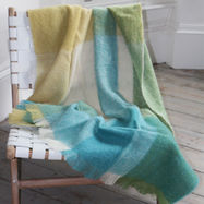 Luxury Mohair Throw - Pacific Blue