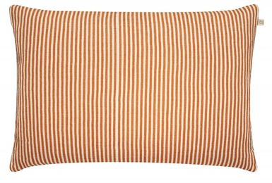 Linen Stripe Jaffa Orange (50cmx50cm)
