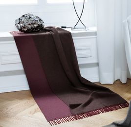 Berry Aubergine Wool Cashmere Throw