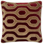 Varanasi Velvet Cushion Dark Oak/Ruby