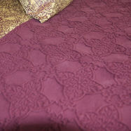 Zantine Deep Plum Bedcover Throw